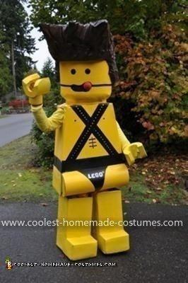 Homemade Sexy Lego Minifig Costume