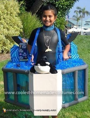 Homemade Shamu Trainer Costume