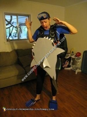 Homemade Shark Attack Victim DIY Halloween Costume Idea