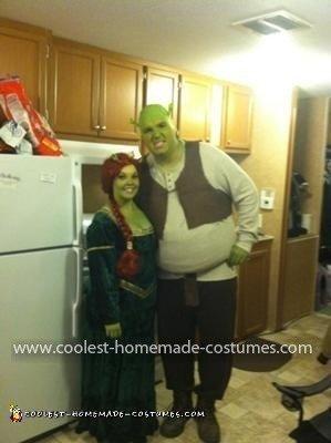 Homemade Shrek and Fiona Costume