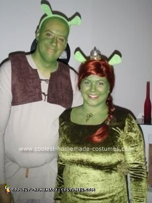 Homemade Shrek and Fiona Costumes