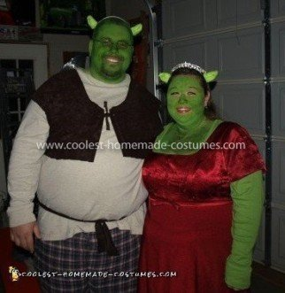 Homemade Shrek and Fiona Couple Costume