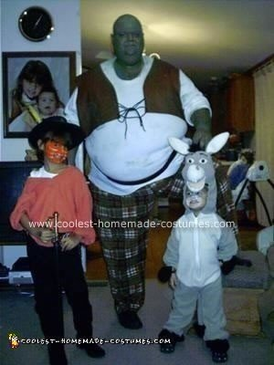 Homemade Shrek Group Costume