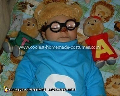 Homemade Simon Chipmunk Baby Costume