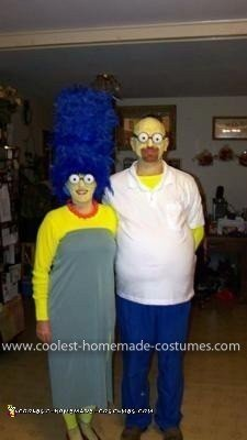 Homemade Simpsons Couple Costume