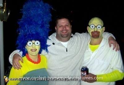 Homemade Simpsons Couple Costume