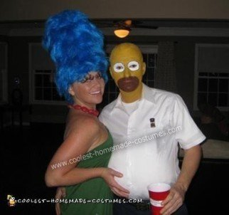 Simpsons Couple Costume