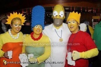 Simpsons Group Costume