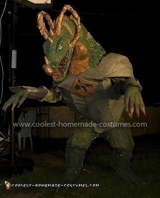 Homemade Smoke Breathing Dragon Costume