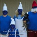 Homemade Smurf Family Costume