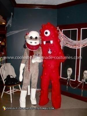 Homemade Sock Monkey Costume