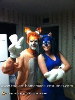 Homemade Sonic and Tails Couple Costume