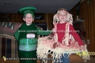 Spagetti and Meatballs with Parmesan Cheese Costume
