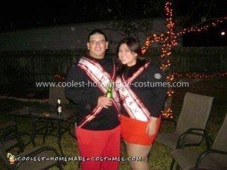 Homemade Spartan Cheerleaders Couple Costume