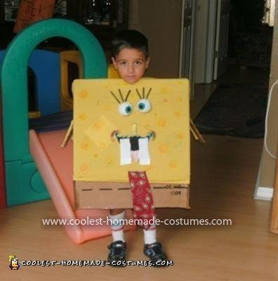 Homemade SpongeBob Costume