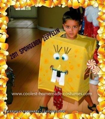 Homemade SpongeBob Costume
