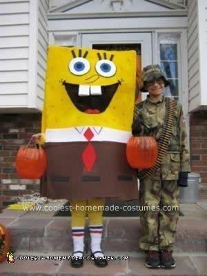 Homemade Spongebob DIY Halloween Costume