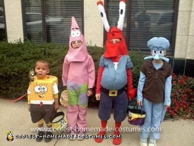 Homemade Spongebob Gang Costumes