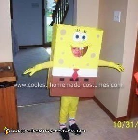 Homemade Spongebob Halloween Costume