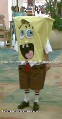Homemade Spongebob Squarepants Costume
