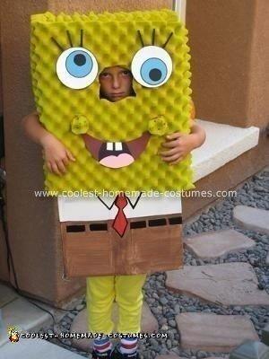 Homemade Spongebob Squarepants Halloween Costume