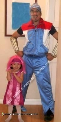 Homemade Sportacus and Stephanie Costumes
