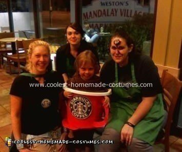 Katelyn and the local Starbucks Crew
