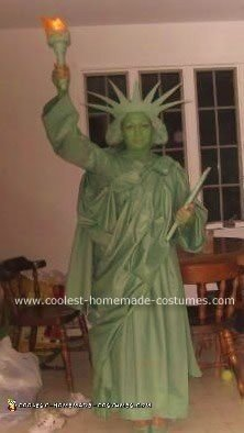 Homemade Statue of Liberty Costume