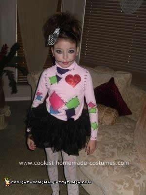 Homemade Stitch Doll Girls Costume
