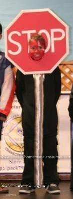 Homemade STOP Sign Costume