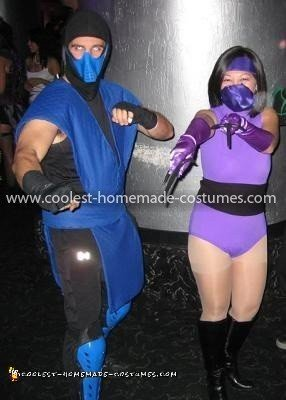 Coolest Sub Zero and Mileena MK2 Couple Costume