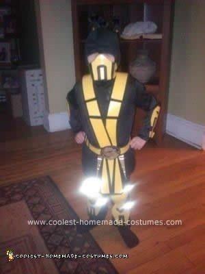 Homemade Sub-Zero and Scorpion Child's Couple Costume