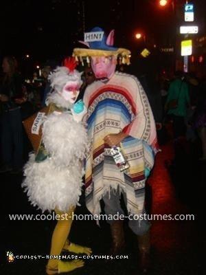 Coolest Swine Flu and Bird Flu Couple Costume