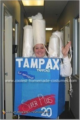 Homemade Tampax to the Max Super Plus Costume