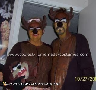 Taz and Mrs. Taz Homemade Costumes
