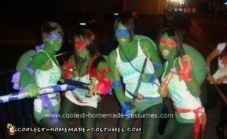 Homemade Teenage Mutant Ninja Turtles Costumes