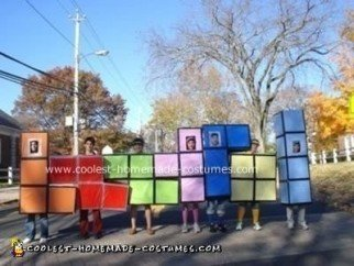The 7 Tetris Amigos group costume