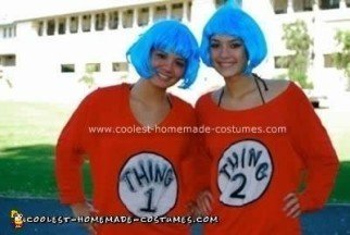 Homemade Thing 1 and Thing 2 Costumes