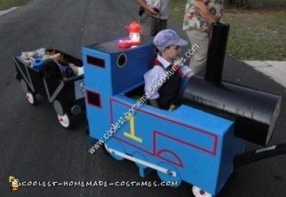 Thomas and Freight Car Halloween Costume Idea