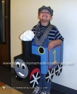 David in his Thomas the Tank Engine Costume
