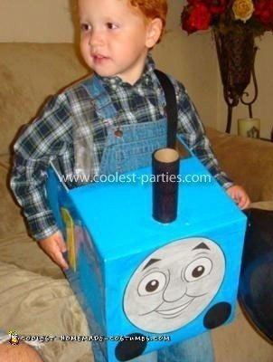 Homemade Thomas the Train Costume