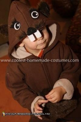 HomemadeToddler Beaver Costume