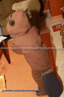 HomemadeToddler Beaver Costume