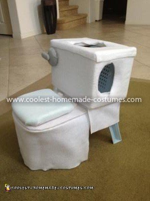 Coolest Toilet Costume - Side View of Toilet