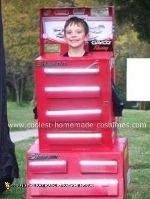 Homemade Snap-On Tool Box Costume
