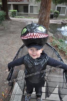 Homemade Toothless Night Fury Dragon Costume