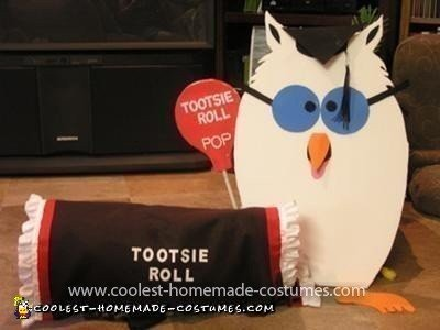 Homemade Tootsie Roll Pet Dog Costume