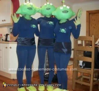 Homemade Toy Story Alien Group Costume