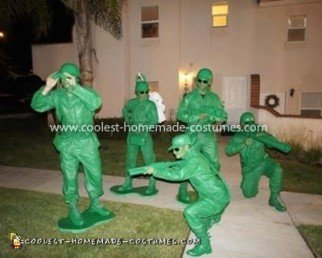 Homemade Toy Story Army Soldiers Group Costume