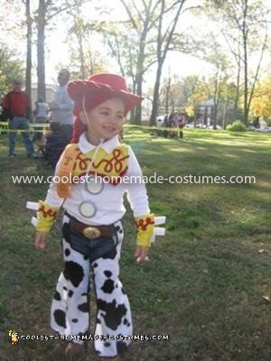 Coolest Toy Story Jessie Costume - She won first place in our towns costume judging!! =)
